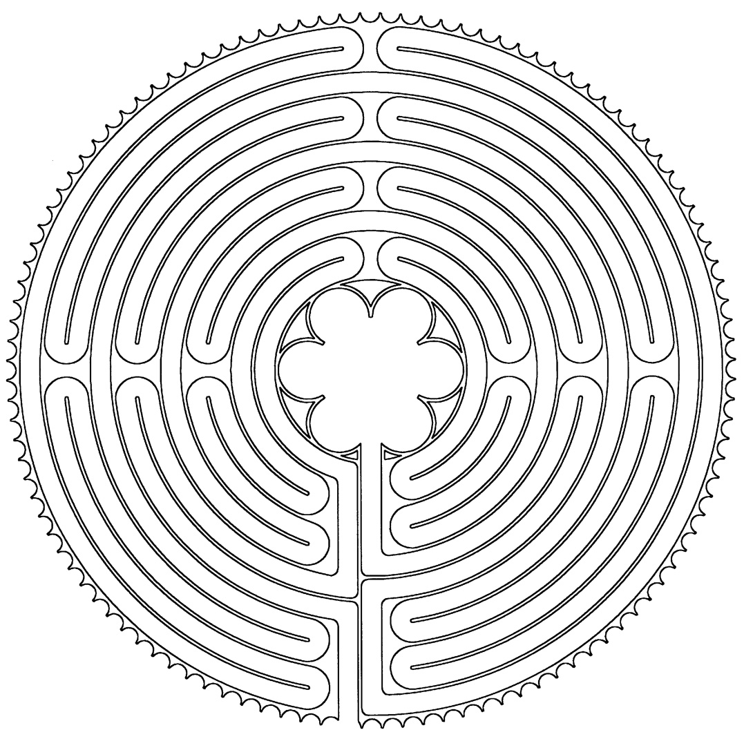 how to draw a chartres labyrinth